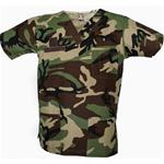 Scrub Top Woodland Camo